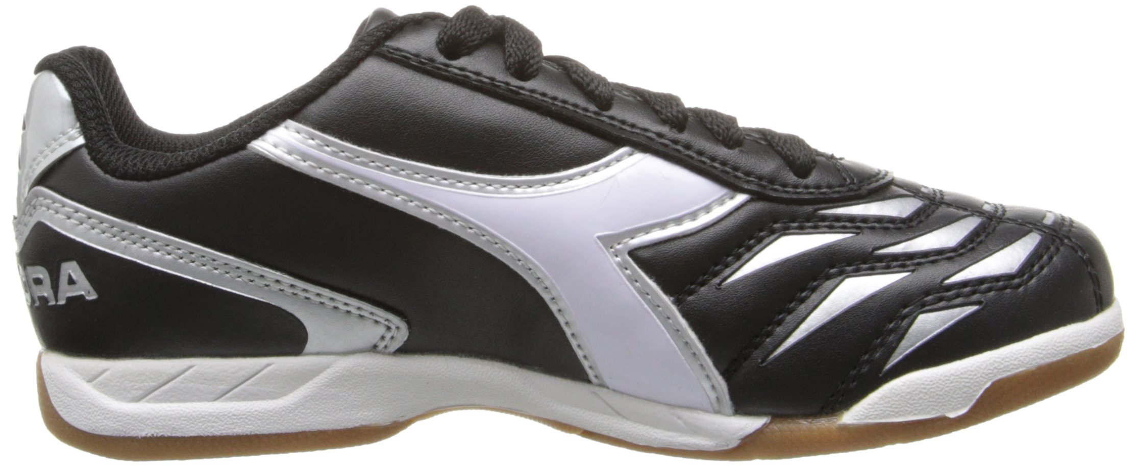 Diadora Capitano ID JR Indoor Soccer Shoe, Black/White, 3.5 M US Big Kid by Diadora (Image #6)