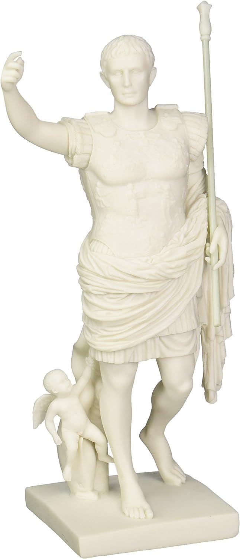 B005EIWOLG Design Toscano WU73509 Caesar Augustus of Prima Porta Roman Replica Statue, 11 Inch, Bonded Marble Polyresin, White 71Q8IkAcCgL
