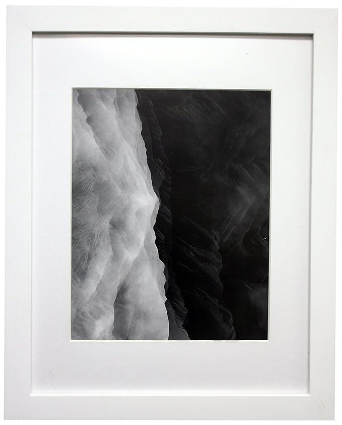 11 x 14 Foto Holz Rahmen mit Matte für 8 x 10 Bild, holz, Weiß ...
