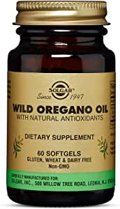 Solgar Wild Oregano Oil, 60 Softgels - High Quality Oregano Oil Concentrate - Immune Support - Includes Natural Antioxidant Phytochemicals - Non GMO, Gluten Free, Dairy Free - 60 Servings