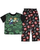 Minecraft Boy's Alex and Steve 2 Piece Pajama Set