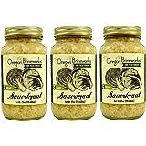 Organic Raw, Fermented Classic Sauerkraut, 25 Oz Economy Size (3 Jars)