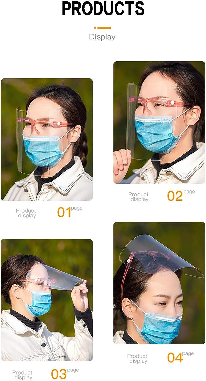 couleur al/éatoire. visi/ère transparente et protection des yeux et de la t/ête pour les voyages en plein air /Écran de s/écurit/é pour le visage anti-/éclaboussures universel r/éutilisable