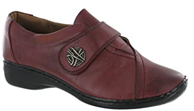 2e187df89157 Pavers Leather Lined Velcro Lightweight Comfort Walking Casual Ladies Shoes  (UK 7 EU 40