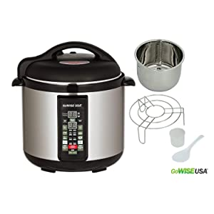 Stainless-steel 6-in-1 Electric 8 QT