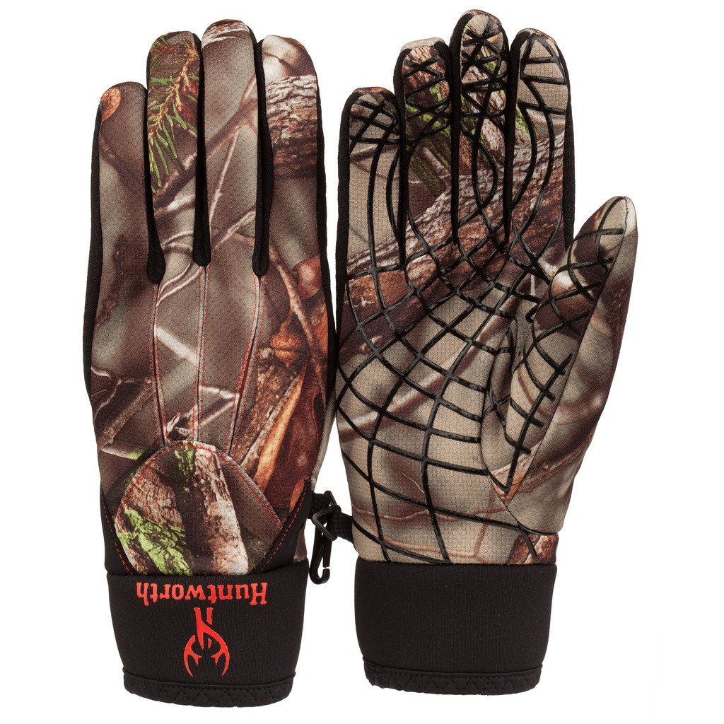 Huntworth Men's Camo Tech Silicon Print Palm Shooters Gloves, Camouflage, X-Large by Huntworth