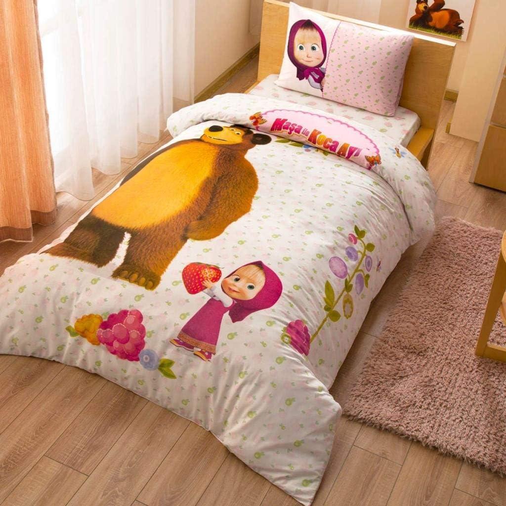 Masha and the Bear Baby Bedding Set 100 x 135 40 x 60 cm Cotton Small Childrens Bed Linen Masha