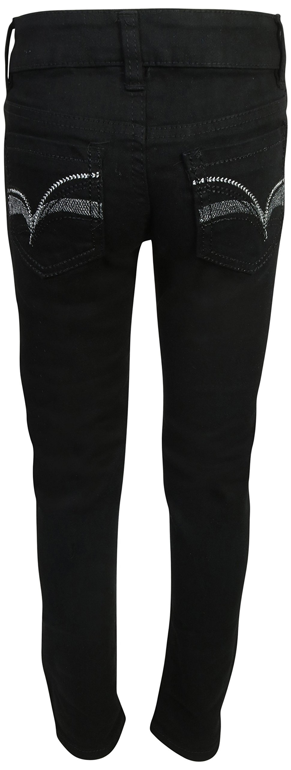 Real Love Girls Skinny Jeans, Black & Blue (2 Pack) Size 6 by Real Love (Image #3)