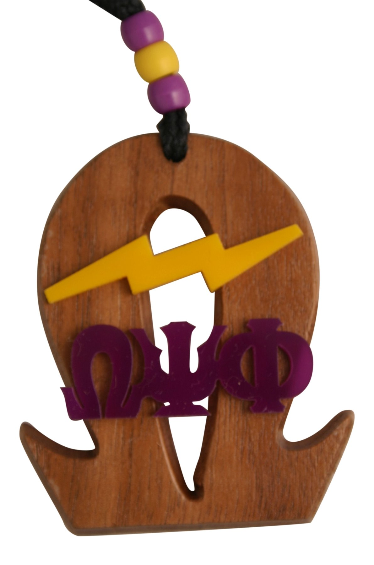 Omega Psi Phi - Wood Medallion