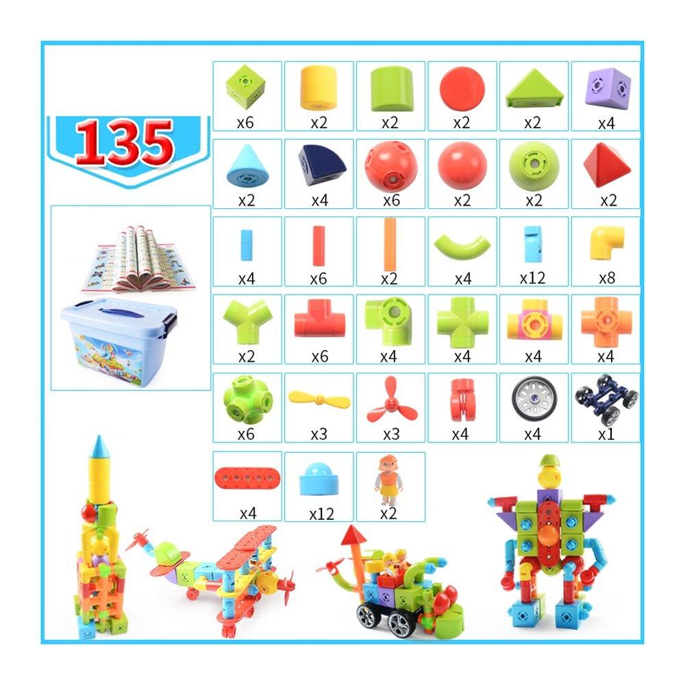 磁気ビルディングブロック、教育磁気建物のタイルビルディングブロック36セット、クリエイティブビルディング子供と子供のためのスタッキングおもちゃストレージボックス ( Color : 135 ) B07FDBD65F