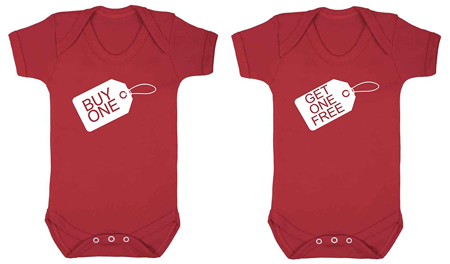 0-3 months, WHITE TWINS Buy one get one free baby vest babygrow 2 pack set