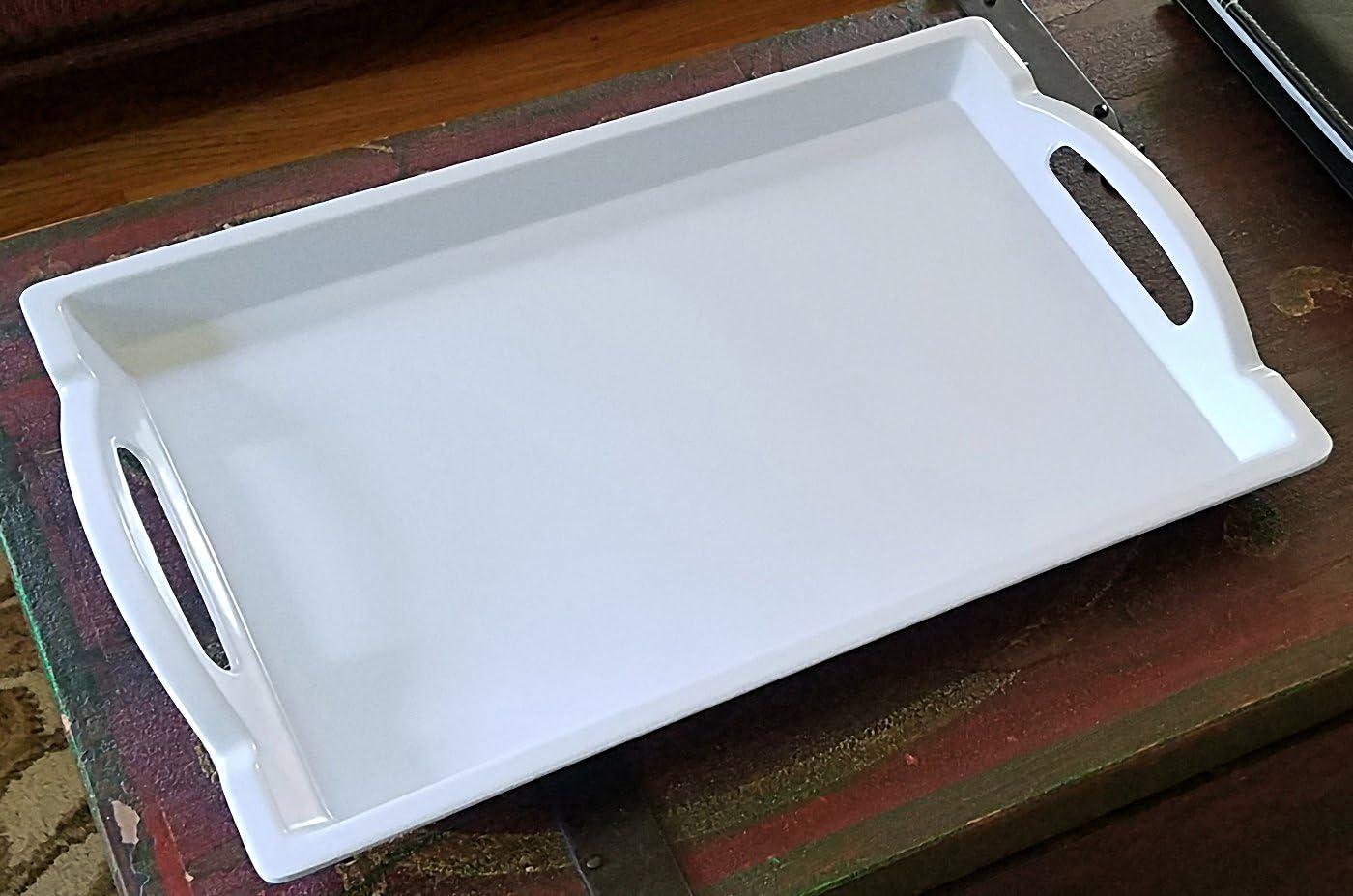 30cmx20cm bandejas para el hogar Victoy Bandeja de Servir Fiesta para Servir Alimentos Rectangular Bar de pl/ástico Coreano Antideslizante Resistente a los ara/ñazos