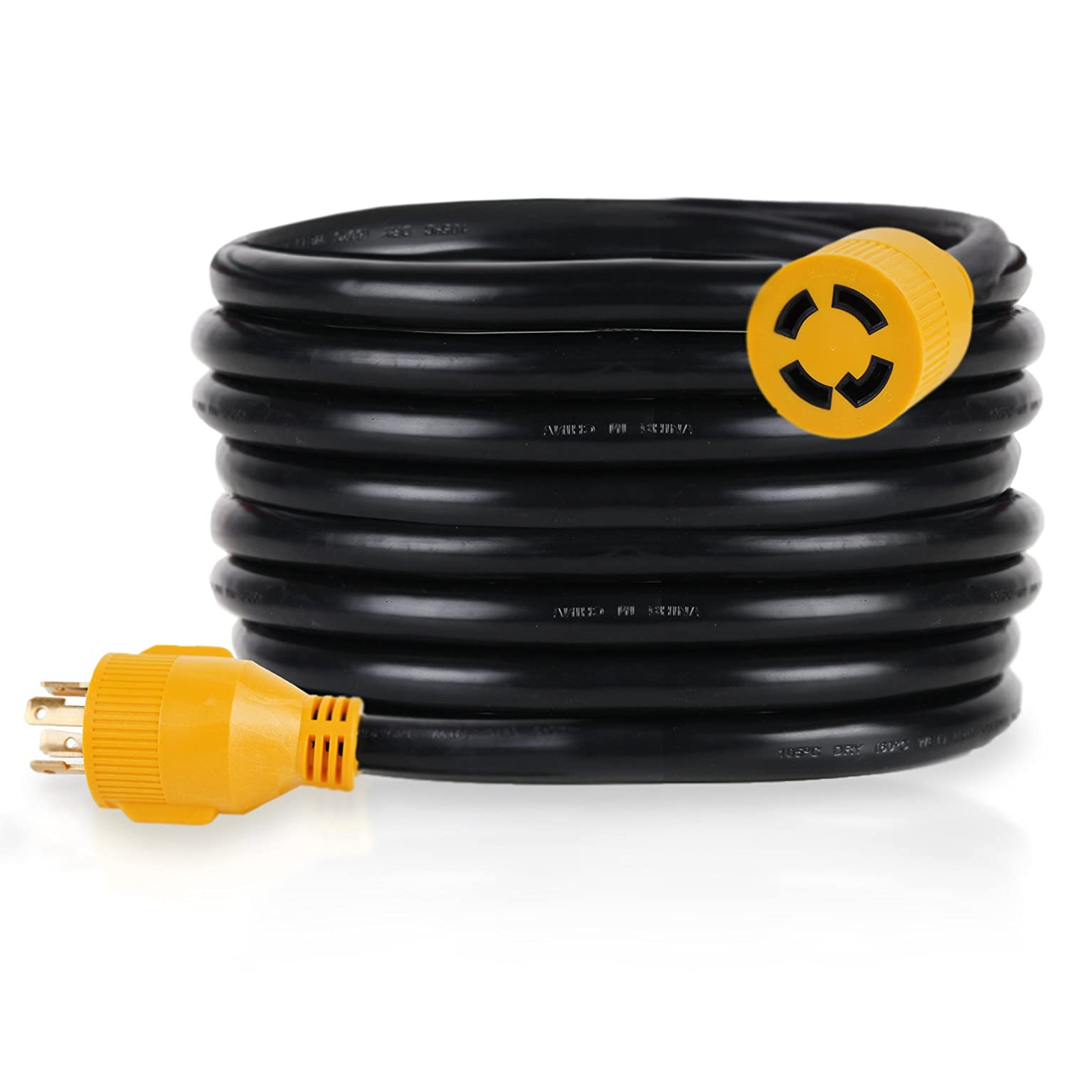 PROLINE Power 25-FT Generator Extension Cord, 30Amp, 4 Prong Locking Heavy Duty (L14-30) 125-240V 10/4 SJTW (25) DRM Products Inc.