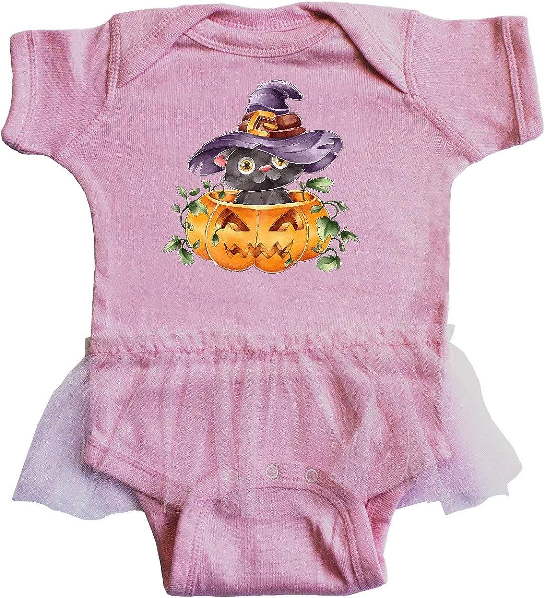 inktastic Halloween Kitty Infant Tutu Bodysuit
