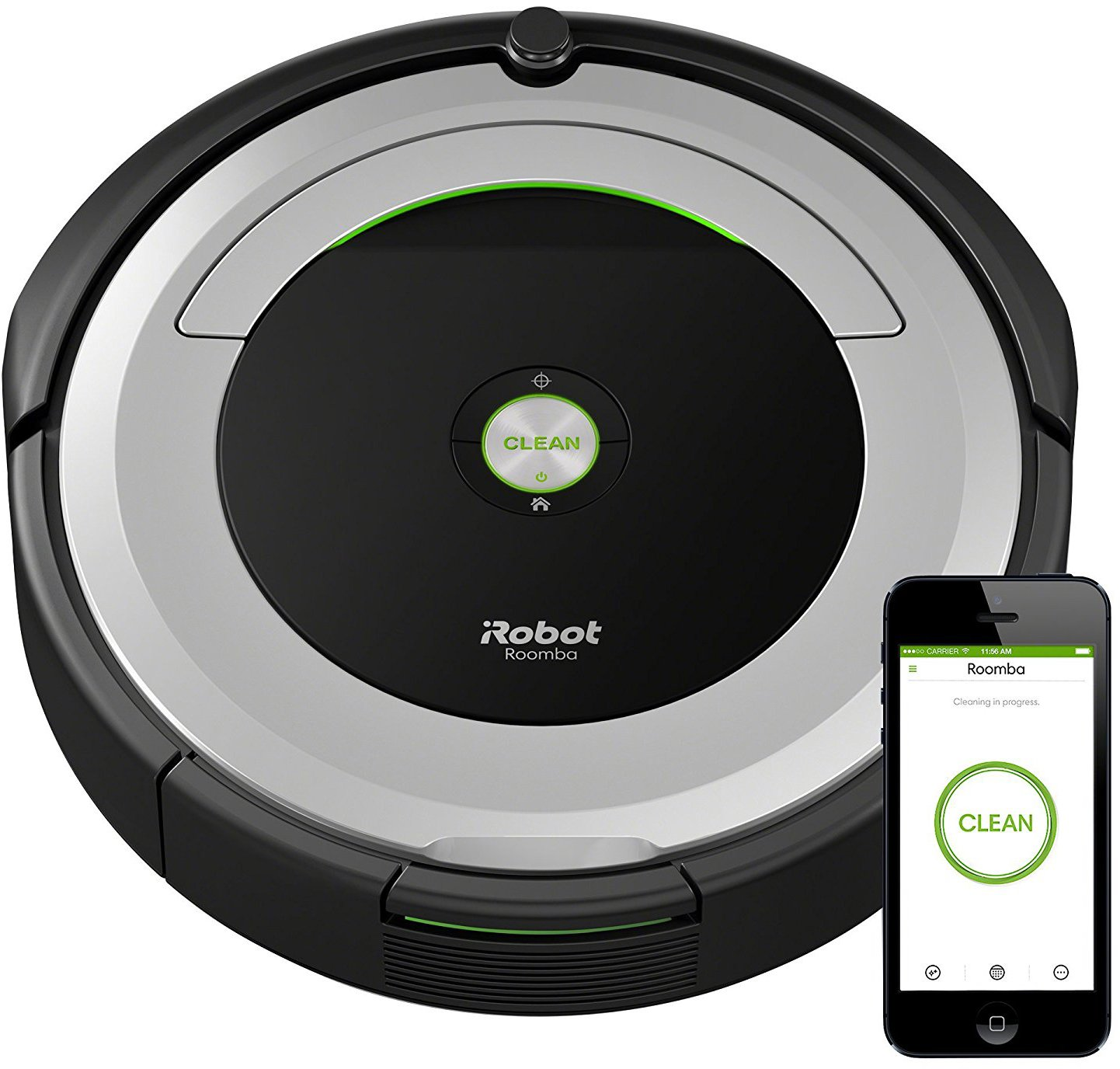 iRobot Roomba 690 Wi-Fi Connected Robotic Vacuum w/ 600 Series Replenishment Kit