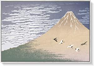 Asian Zen Japanese Mount Fuji Landscape Large Living Room Bedroom Office Wall Art Home Dècor 36x24 Canvas Hi-Res Print in White Woodgrain Frame Ready to Hang