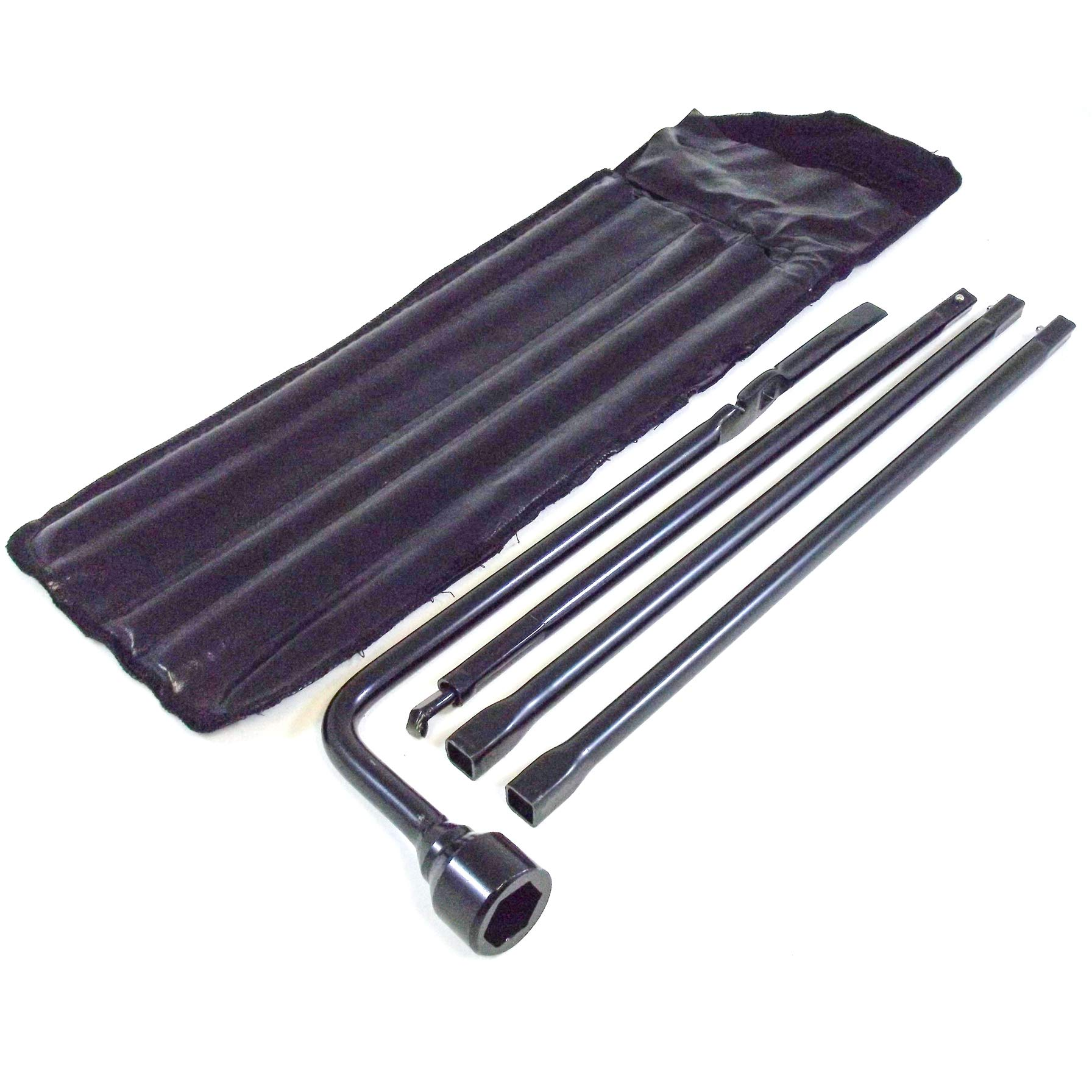 Spare Tire Tool Kit with Case for 1999-2018 Compatible with Chevy Silverado 1500 & GMC Sierra 1500 Tire Iron Lug Wrench, 4 Piece Tool Kit to Lower Spare Tire (1999-2019 2500 HD and 3500 HD)