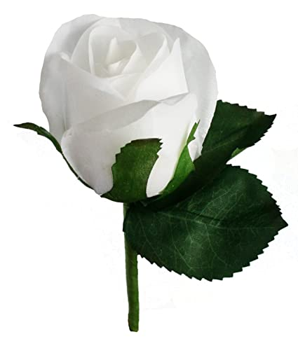 Amazon white silk rose boutonniere wedding ceremony white silk rose boutonniere mightylinksfo