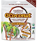 Nutiva O'Coconut Organic Coconut Treat, Hemp & Chia, 8 Pieces