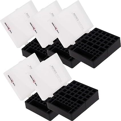 Ansmann Premium Batería Caja para 4 Mignon AA o Micro AAA Baterías y Pilas – Caja para Proteger y Transporte Caja para baterías, 48 Unidades 5 Unidades Negro: Amazon.es: Electrónica
