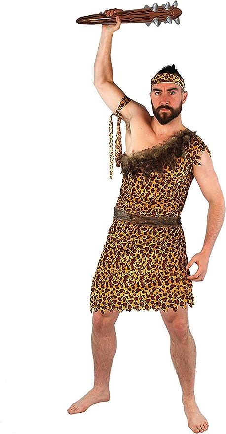 Disfraz DE CAVERNÍCOLA para Hombres - TÚNICA Estampado DE Leopardo ...