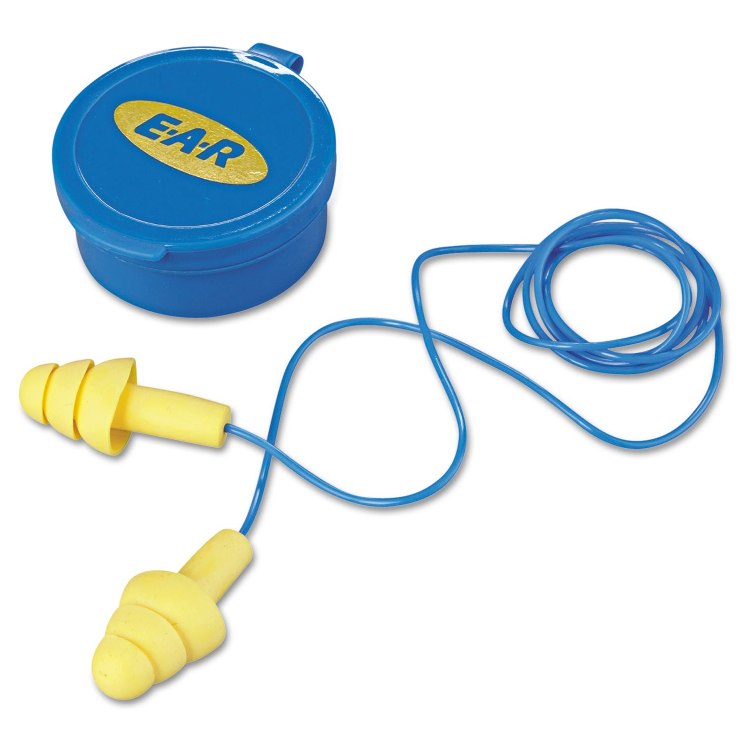25dB Rated Reusable Flanged 3M 340-4002 E-A-R™ UltraFit™ Corded Ear Plugs