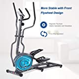 MaxKare Magnetic Elliptical Machine Elliptical Trainer Heavy Duty Smooth Quiet Driven for Home Use with Front Flywheel…