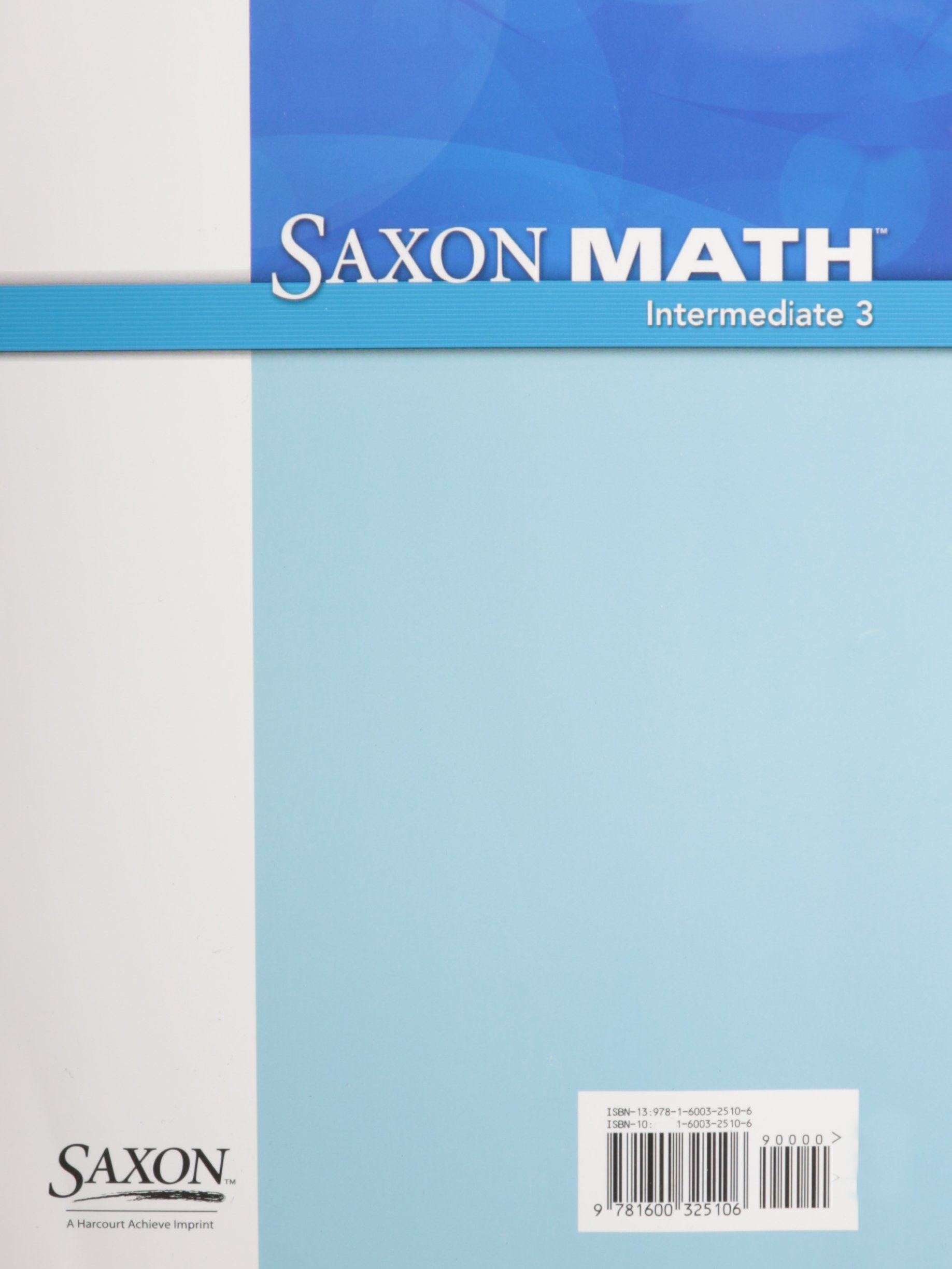 Buy Saxon Math Intermediate 3: Power-Up Workbook Book Online at Low ...