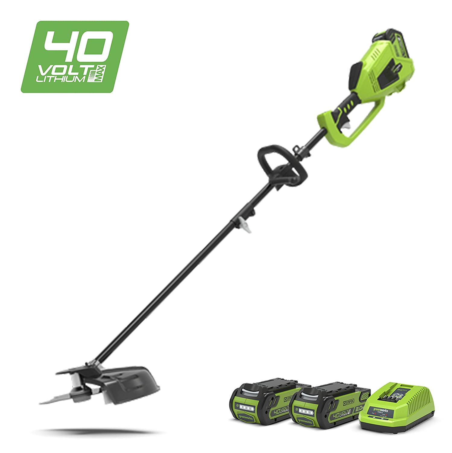Greenworks 40V Cordless Brushless Trimmer 2-in-1 (Top-mount motor) - Battery and charger not included - 1301507 GD40BC (Art No: 1301507)