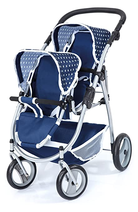 Bayer Design Cochecito de Gemelos, Buggy, Color Azul (26551AA)