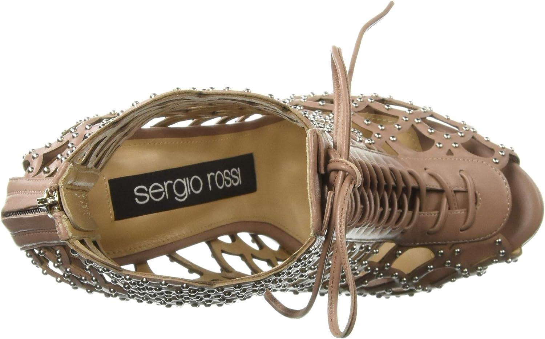 Sergio Rossi Damen Mermaid Boxer Sandalen mit Absatz Helle Haut