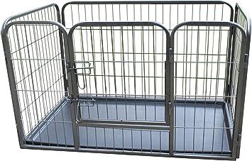 Medium Gunmetal Grey BUNNY BUSINESS Heavy Duty 6 Panel Puppy Play Pen// Rabbit Enclosure