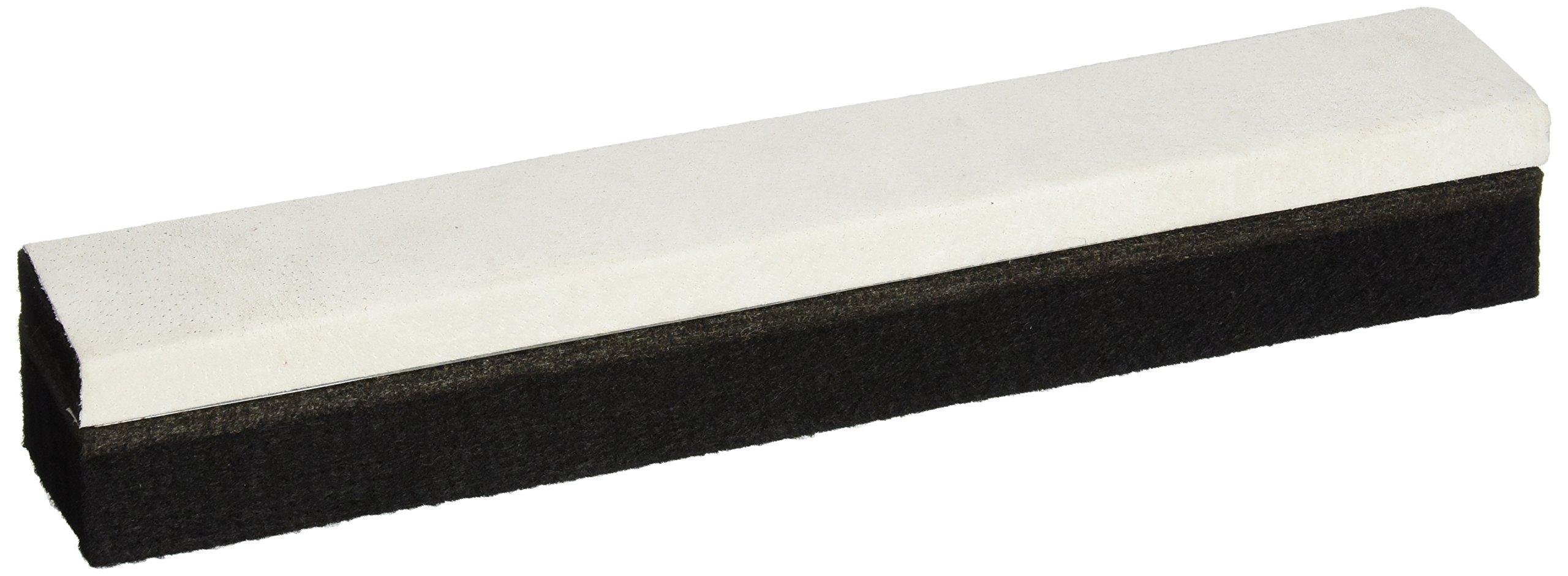 Quartet 807222 Deluxe Laminated Felt Chalkboard Eraser/Cleaner, 12 x 2 x 1-5/8