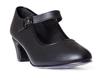 Happy Dance 577042 - Zapatos de Flamenco para Principiante, con Hebilla, para Niña, Color Plata, Talla 23