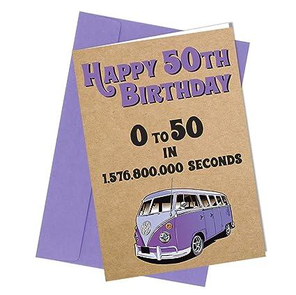 Tarjeta de felicitación para 50 cumpleaños con texto en ...