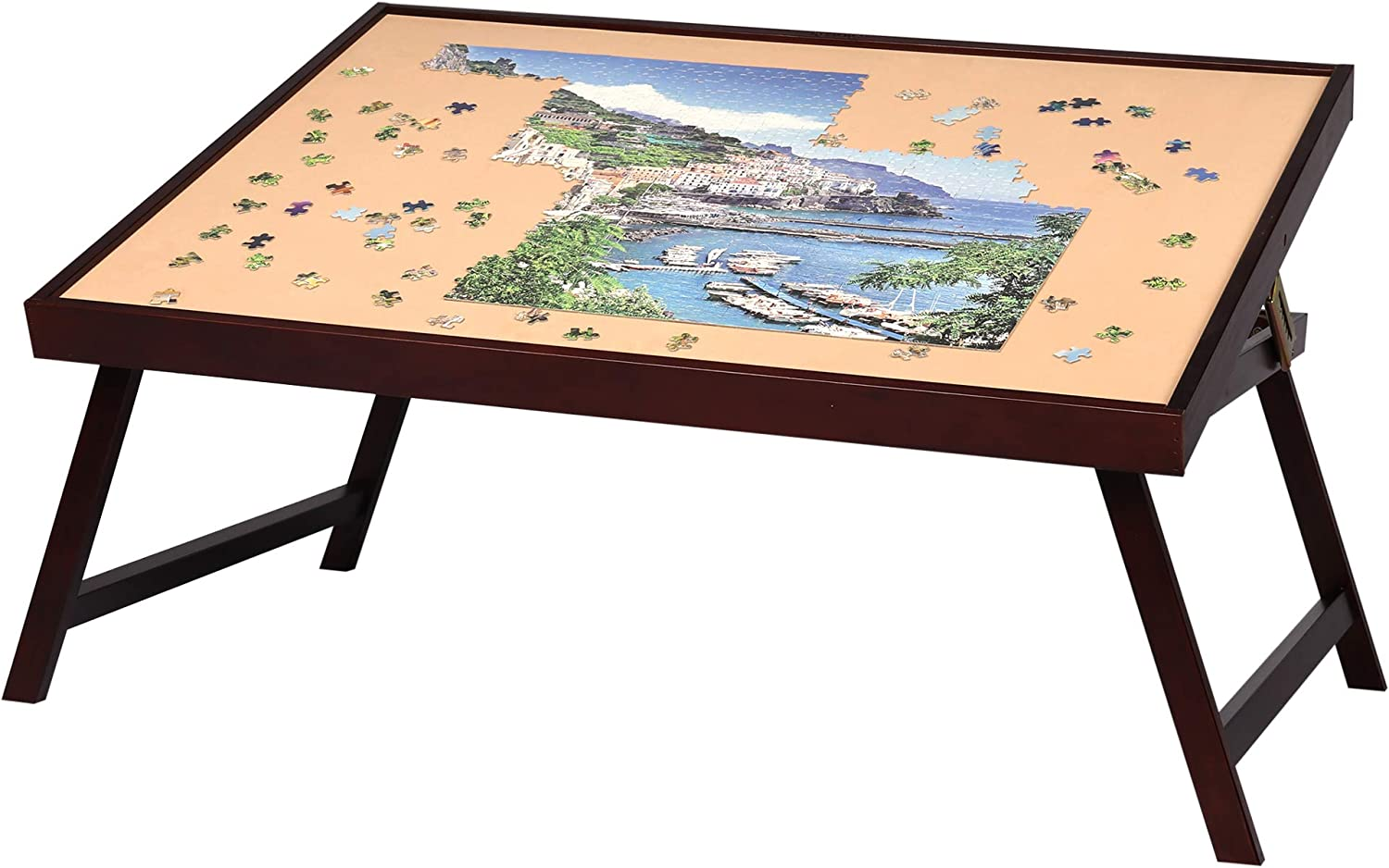 LAVIEVERT Adjustable Wooden Puzzle Board Easel Jigsaw Puzzle Plateau Non-Slip Up