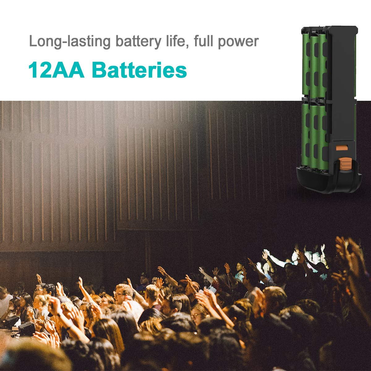 Replaces Nikon SD-9 12 AA Batteries AODELAN External Flash Battery Pack Rapid Flash Recycling Portable for Speedlite Nikon SB900 SB5000 SB910