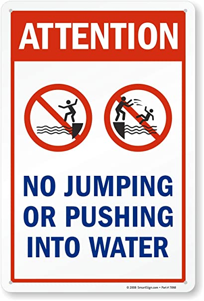 Amazon.com: : No Jumping o Empujar En El Agua (con Graphic ...