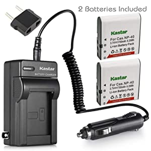 Kastar 2-Pack LB-060 Battery and Charger Replacement for Kodak PixPro AZ522 AZ521, Kodak PixPro AZ501, Kodak PixPro AZ421, Kodak PixPro AZ365 AZ362 AZ361, Kodak PixPro AZ525 AZ526, Kodak PixPro AZ251