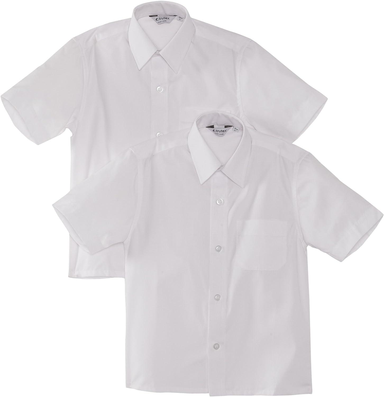 Trutex Limited Boys Short Sleeve School Shirt-Pack of 2