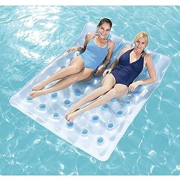 CHENGYI cama flotante, Tumbonas inflables del agua de la playa Fila flotante, juguete inflable del flotador de la piscina Silla ...