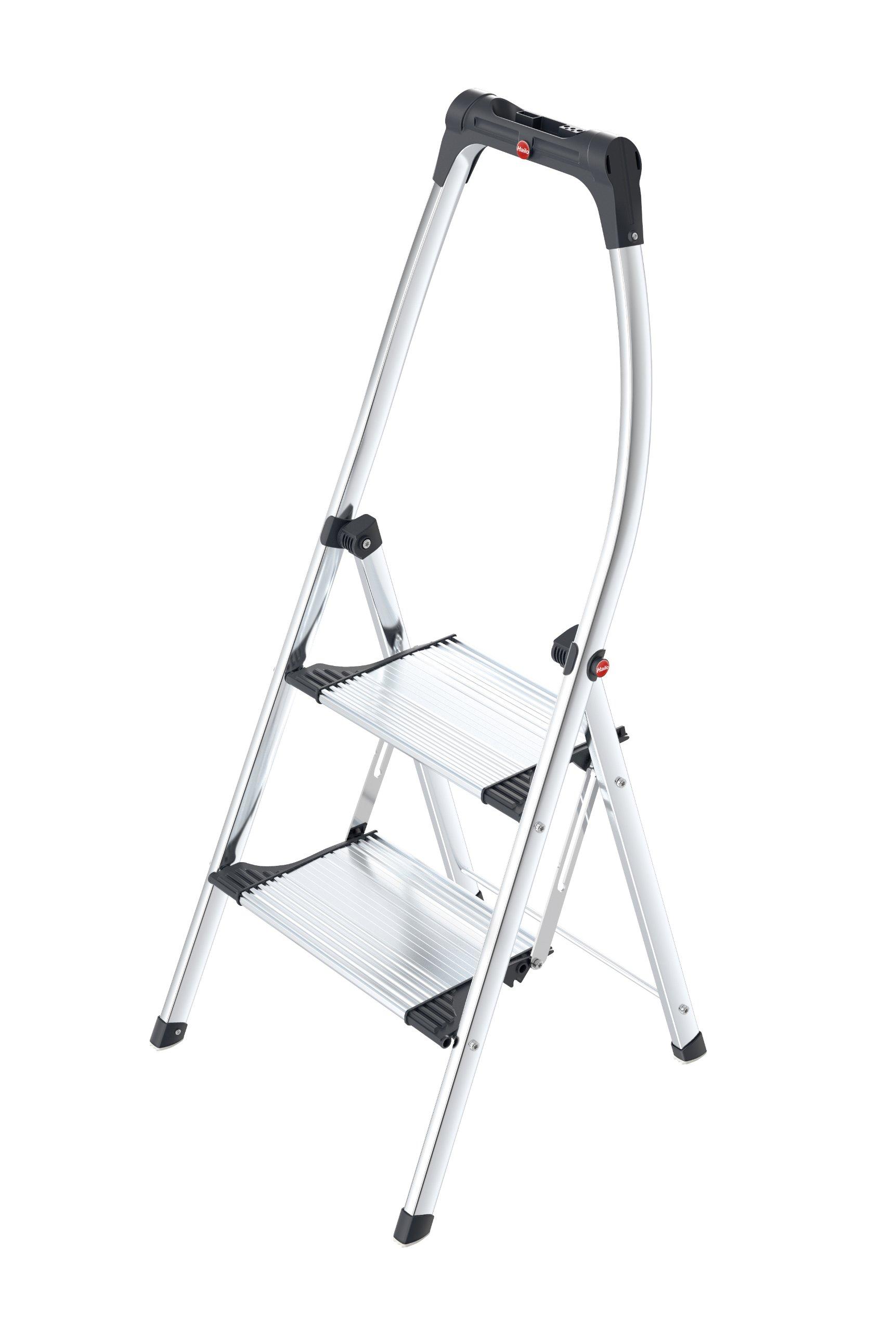 Hailo 4302-301 Living Step Comfort 2 Step Aluminum Ladder