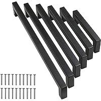 10 stuks meubelgrepen roestvrij staal kastgrepen keukengrepen ladegreep voor kledingkast keuken zwart boorgatafstand (96…