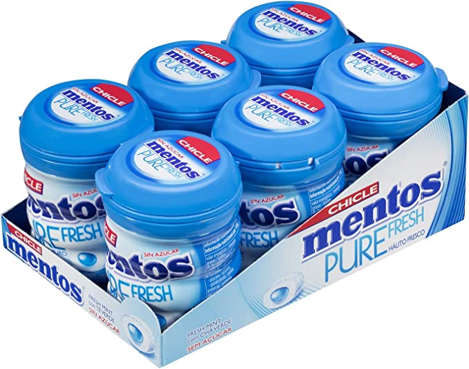 Mentos Chicle Menta, Sin Azúcar - 6 unidades de 60 gr. (Total 360 gr.): Amazon.es: Alimentación y bebidas