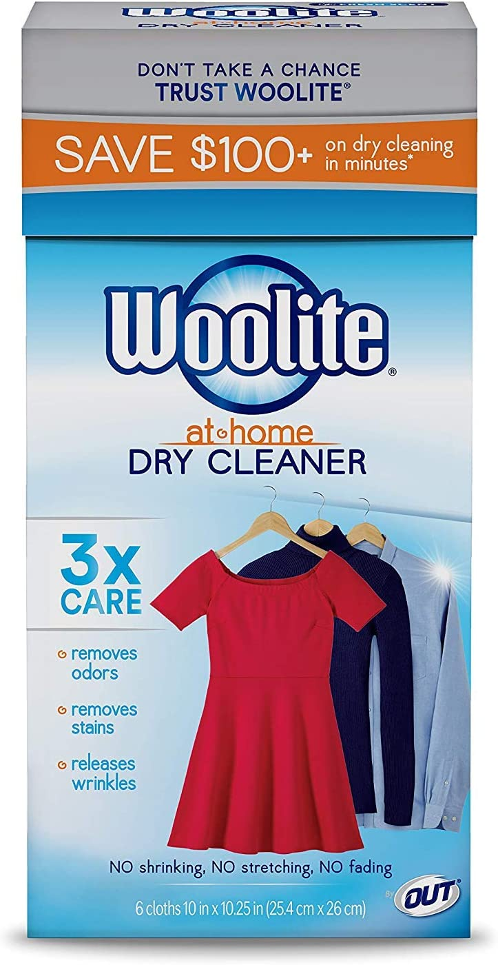 Woolite at Home Dry Cleaner, Fresh Scent, 2 Pack, 12 Cloths