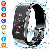 Fitness Tracker Activity Sports Watch with Pedometer Heart Rate Monitor 7 Sports Mode Step Calorie Distance Tracker IP67 Waterproof Call SMS SNS Remind for Men Women Kids Compatible with Android IOS