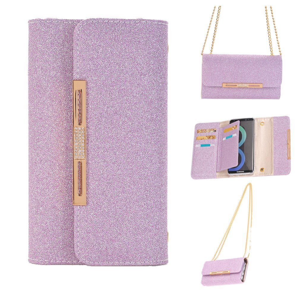 FuriGer S7 Edge Case,S7 Edge cases holsters, Synthetic PU Leather Wallet Case Folio with 7 Card Multi-Slots Flip Wallet Money Pockets for S7 Edge-Purple