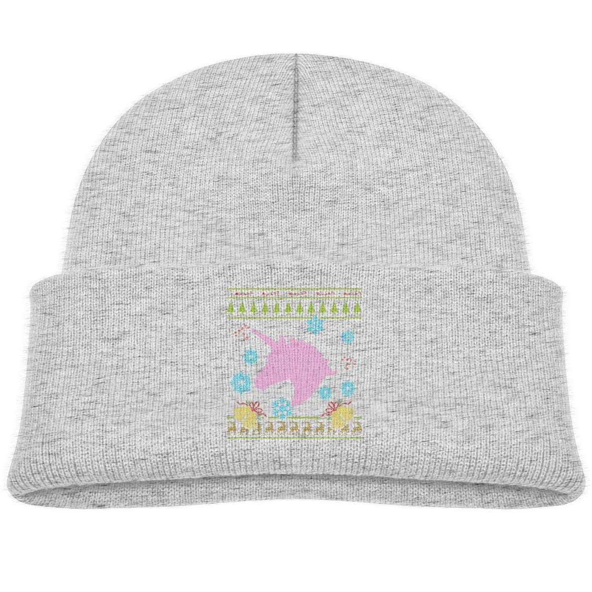 Pink Unicorn Christmas Infant Knit Hats Baby Girl Beanie Caps