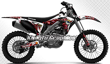 UFO Kawasaki Motocross Rear Fender KXF 250 2013-2016 KXF 450 2012-2015 Black