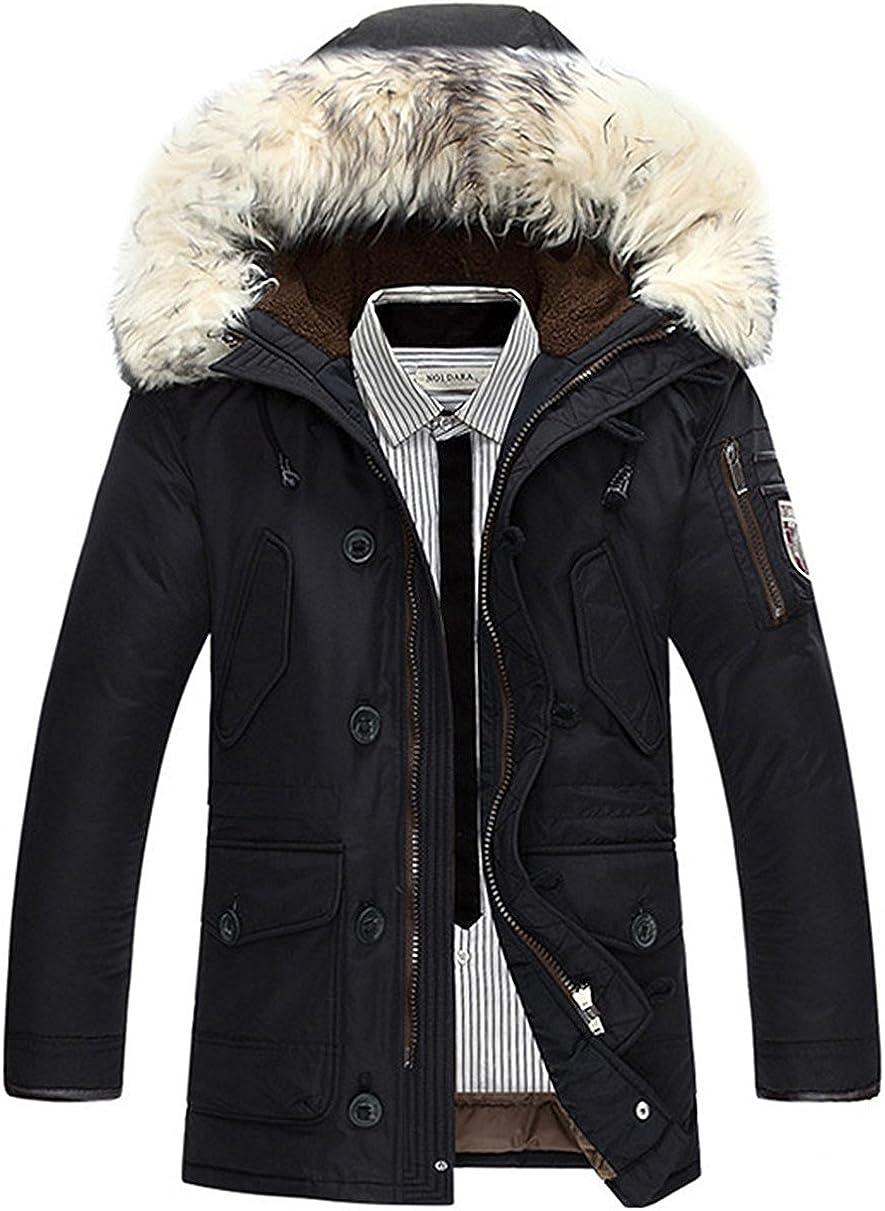 ShallGood Blousons Fermeture Jacket Homme Nouvelles Mode Biker Moto Zipper Veste Élégant Hiver Style Militaire Masculine Manteau d'automne A-noir